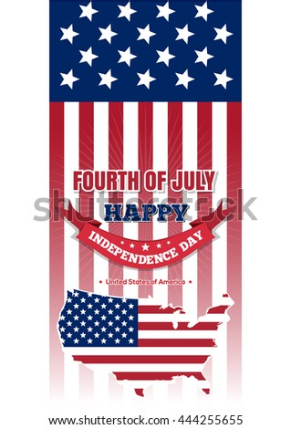 Happy Veterans Day Soldier Usa Flag Stock Vector 484445683
