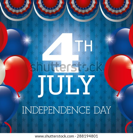 independence day design, vector illustration, eps10 graphic