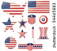 independence day fourth july elements - stock vector