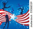 independence day girl dancer cool vector - stock vector