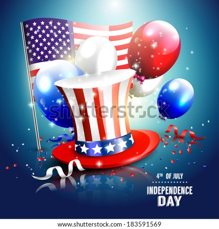 Independence day - luxury vector background   - stock vector