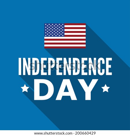 Independence Day Of The Untied States Of America. Quality vector illustration on the blue background, USA, 4th of July, holiday celebration, patriotism, freedom and liberty. - stock vector
