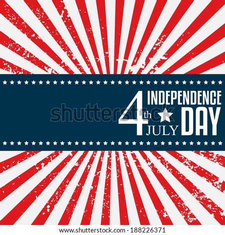 Independence day poster. 4 July. Vector illustration - stock vector