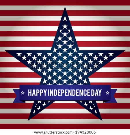 Independence Day Star - stock vector