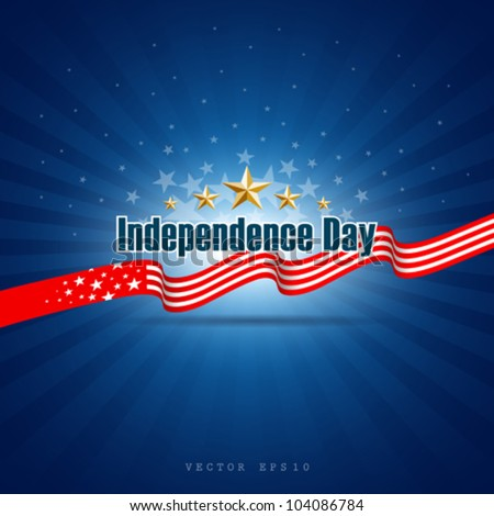 Independence day template background, vector illustration