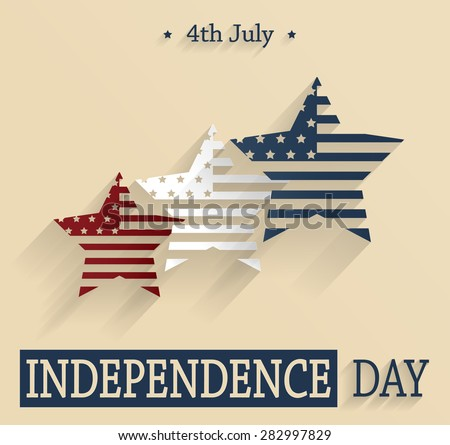 Independence Day. 4th Of July. Red, white and blue stars. Vector illustration. - stock vector