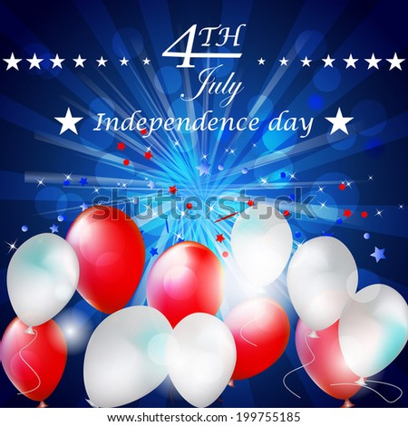 Independence day, vector background/design for poster, print or creative editing