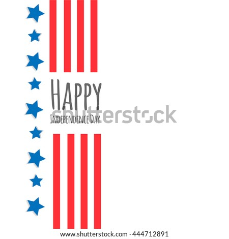 Independence Day Vector Design - July Fourth