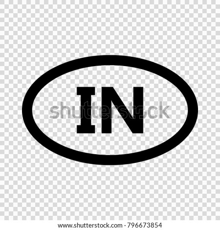 India Code Symbol Short Country Name Stock Vector 796673854