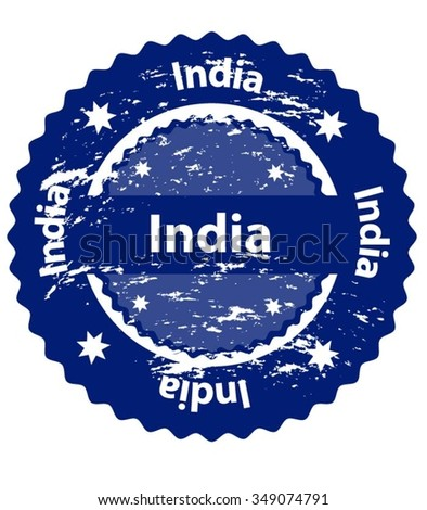 India Country Grunge Stamp - stock vector