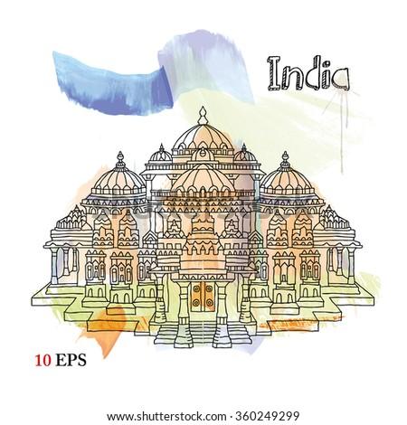 india. delhi - stock vector