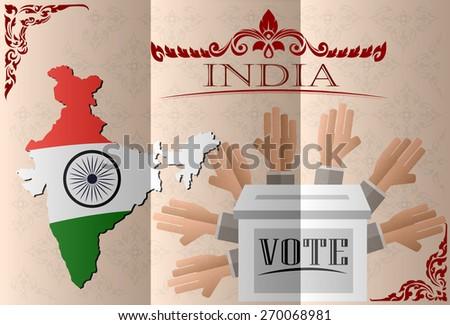 India election ballot box for collecting votes - stock vector
