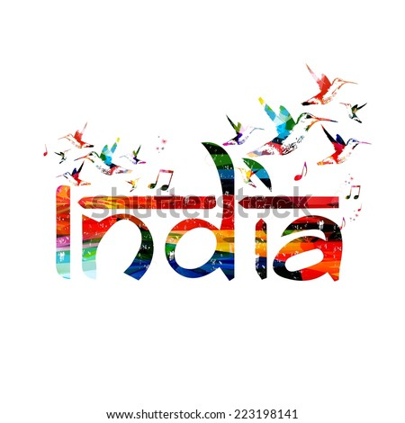 India inspirational inscription - stock vector