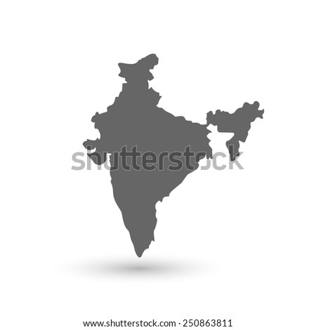 India Map background Vector illustration - stock vector
