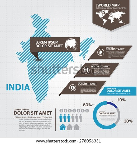 india map infographic - stock vector