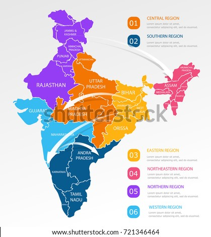 India regions business colorful map points stock vector 721346464 india regions business colorful map points stock vector 721346464 shutterstock gumiabroncs Gallery