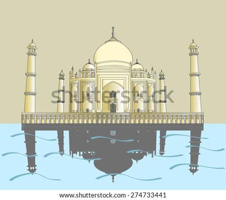 India, Taj Mahal. Indian palace Taj mahal world landmark. Taj Mahal, Taj Mahal, Taj Mahal, Taj Mahal, Taj Mahal, Taj Mahal, Taj Mahal, Taj Mahal, Taj Mahal, Taj Mahal, Taj Mahal, Taj Mahal, Taj Mahal - stock vector