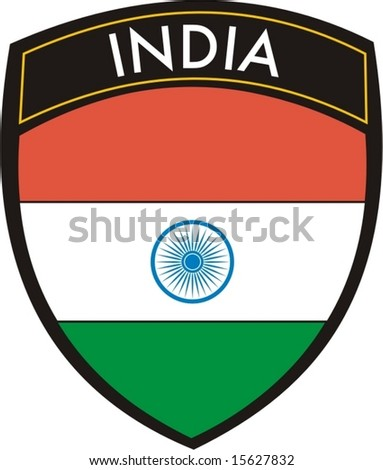 india vector crest flag