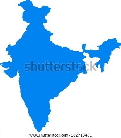 India Vector Map - stock vector
