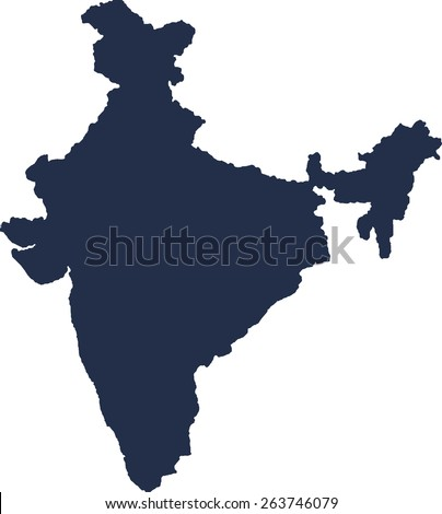 India Vector map. High detailed.  - stock vector