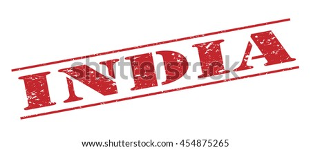 india vector stamp on white background - stock vector