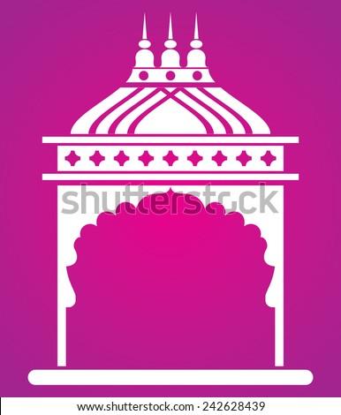 Indian arch. Jharokha. - stock vector