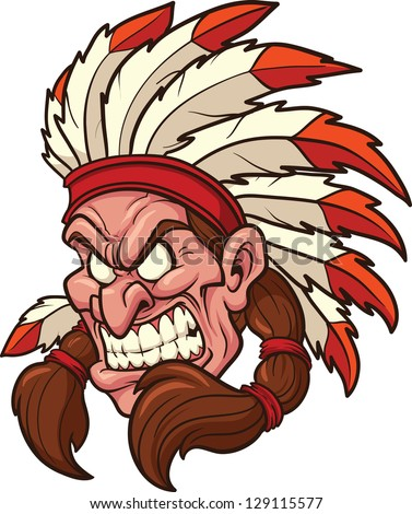 indian chief mascot vector clip art stock vector 129115577 rh shutterstock com clipart indian arrow clipart indian arrow