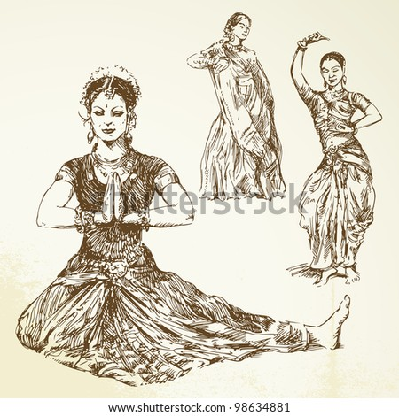 Kathak Dance Drawing Indian Classical Dance Hand