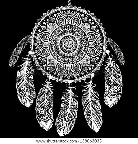Aztec Indians Drawings Indian Dream Catcher