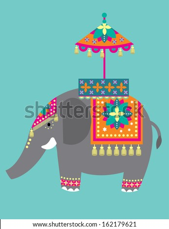 indian elephant festival vector/illustration - stock vector