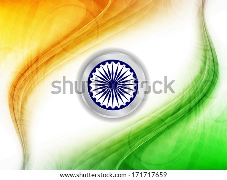 Indian flag theme background for Indian Republic day and Independence day. vector illustration - stock vector