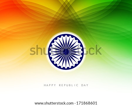 Indian flag theme background for Republic day and Independence day. vector illustration - stock vector