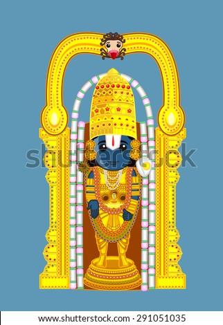 Indian God - Baala Ji - stock vector