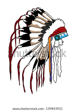 Chief with feathers stock photos illustrations and vector art
