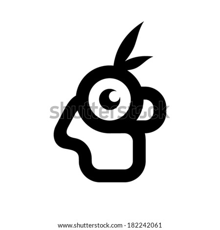 Indian head sign Branding Identity Corporate vector logo design template Isolated on a white background - stock vector