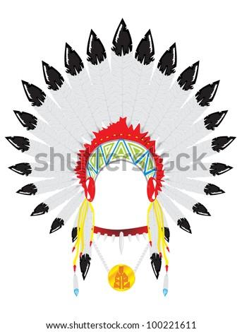 Indian headdress - stock vector