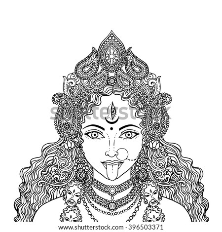 Kali stock images royalty free images vectors Coloring book kali
