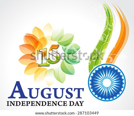 Indian independence day background with ashok chakra  - stock vector