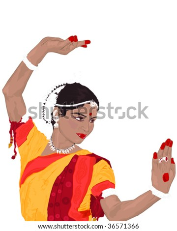 Indian Lady - stock vector