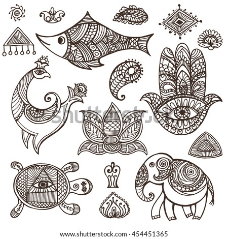 Indian Traditional Design Stock Images Royalty Free