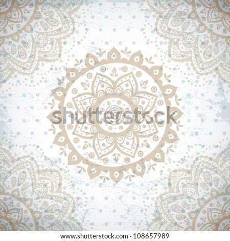Indian ornament - stock vector