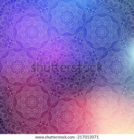 Indian pattern. Vintage decorative elements. Hand drawn background. Islam, Arabic, Indian, ottoman motifs. - stock vector