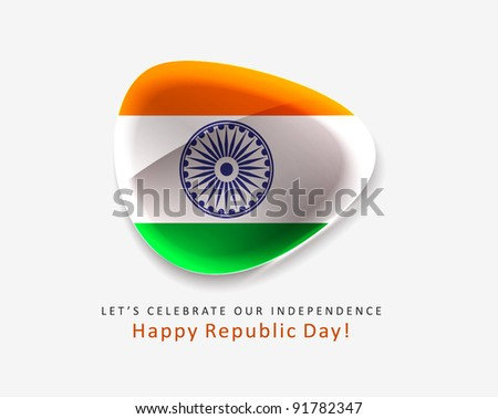 indian Republic Day, 26 January - stock vector