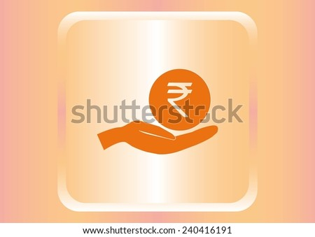 Indian Rupee banking icon - stock vector