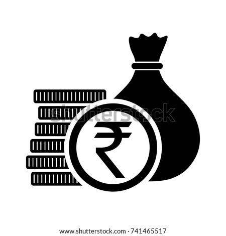 Indian Rupee Money Bag Coins Inr Stock Photo Photo Vector