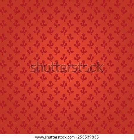 Indian seamless textile vector red background - stock vector