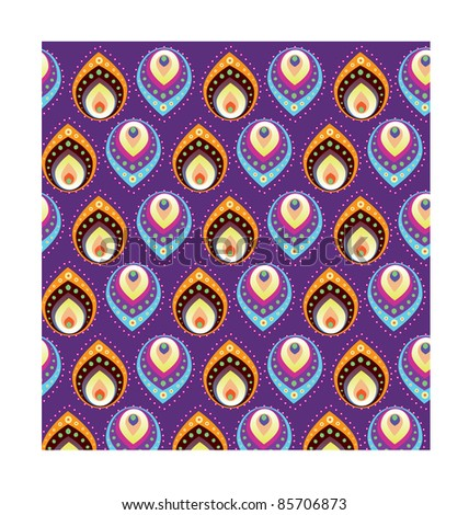 Indian Style Pattern - stock vector