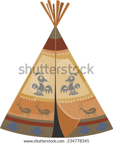 Indian tepee - stock vector