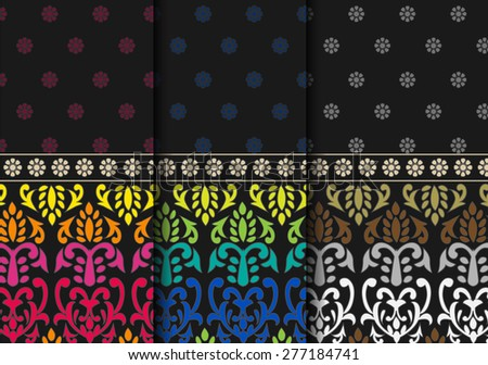 Indian textile Pattern - Detailed and easily editable