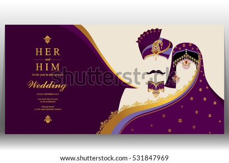 indian wedding card gold and crystals color